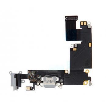 Шлейф iPhone 6 Plus, с разъемом зарядки и наушников, белый