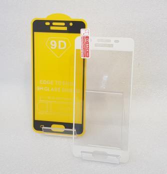 Защитное стекло 5d 9h для Samsung Galaxy A3 2016 SM A310f, черное.