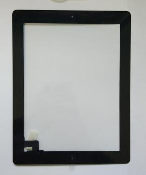 Тачскрин iPad 2,  A1395, A1396, A1397, с кнопкой