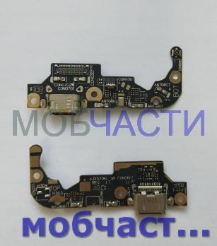 Шлейф (плата) с разъемом зарядки и микрофоном Asus Zenfone 3, ZE520KL, Z017ad