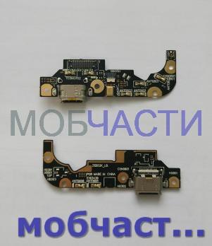 Шлейф (плата) с разъемом зарядки и микрофоном Asus Zenfone 3, ZE552KL