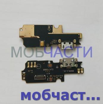 Шлейф (плата) с разъемом зарядки и микрофоном Asus Zenfone 3 Max, ZC553KL