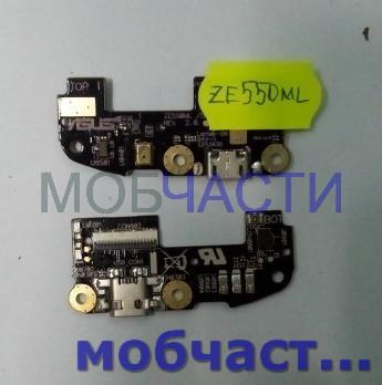Шлейф (плата) с разъемом зарядки и микрофоном Asus Zenfone 2, ZE550ML/ZE551ML, Z00AD