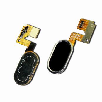 """Шлейф кнопки """"Home"""" Meizu M3 Note, l681h, с кнопкой черной"""