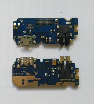 Нижняя плата с разъемом зарядки и микрофоном Meizu U10