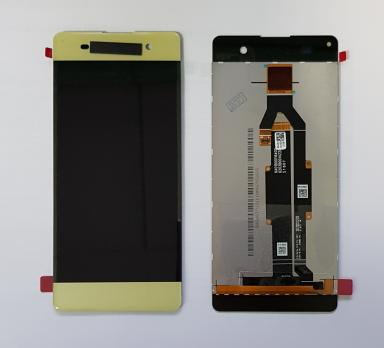 Дисплей с сенсором Sony Xperia XA, F3111, F3112, золото, переклеенная оригинальная матрица