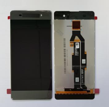 Дисплей с сенсором Sony Xperia XA, F3111, F3112, серый, переклеенная оригинальная матрица