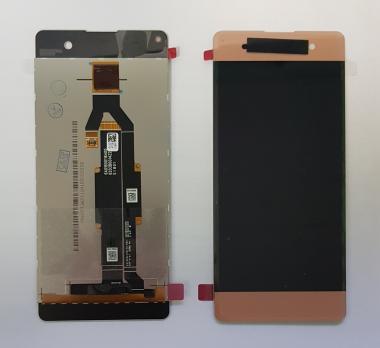 Дисплей с сенсором Sony Xperia XA, F3111, F3112, розовый, переклеенная оригинальная матрица