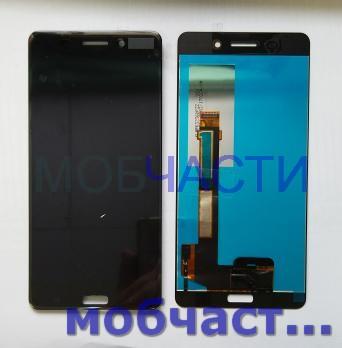Дисплей с сенсором Nokia 6, TA 1000, TA 1003, TA 1021, TA 1025, черный