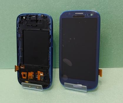 Дисплей с сенсором SAMSUNG Galaxy S3, GT i9300 синий, TFT.