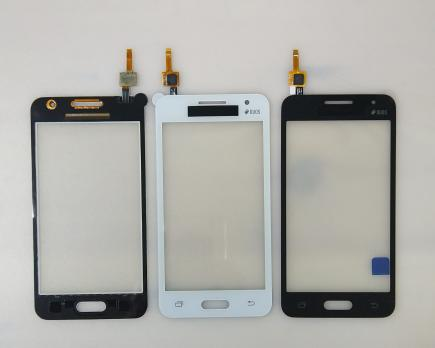 Сенсорное стекло (тачскрин) Samsung Galaxy Core 2, SM G355h, черный