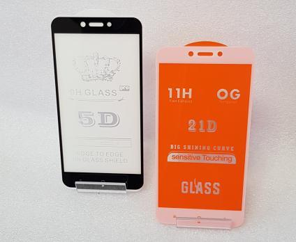 Защитное стекло 5d, для Xiaomi Redmi 4x, Redmi 5A, mcg3b, белое
