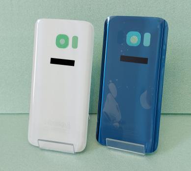 Задняя крышка Samsung Galaxy S7, SM G930f, серая-серебро.