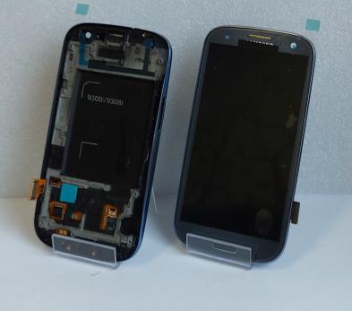 Дисплей с сенсором Samsung Galaxy S3 Duos, GT i9300i, синий,  Amoled