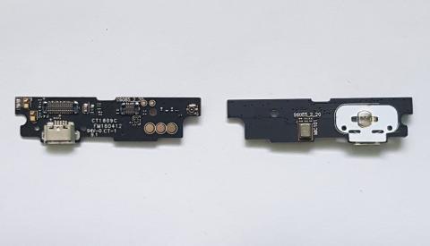 Нижняя плата с разъемом зарядки, вибро и микрофоном Meizu M3 Note, M681h