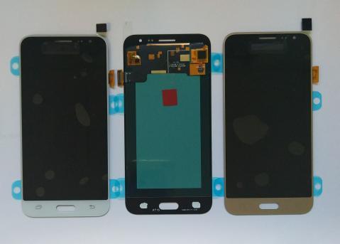 Дисплей с сенсором Samsung Galaxy J3, SM J320f, черный, Oled