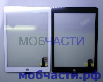 Сенсорное стекло (тачскрин) iPad Air 2, A1566, A1567, белый