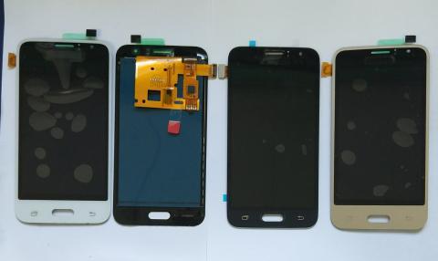 Дисплей с сенсором Samsung Galaxy J1 2016, SM J120F, черный, TFT