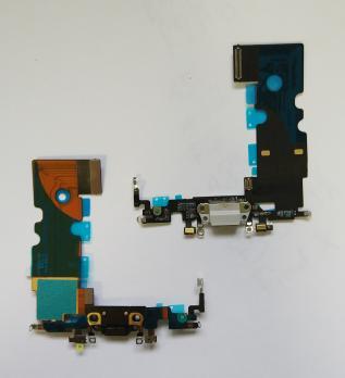 Шлейф iPhone 8, iphone SE 2020, с разъемом зарядки и микрофоном, черный