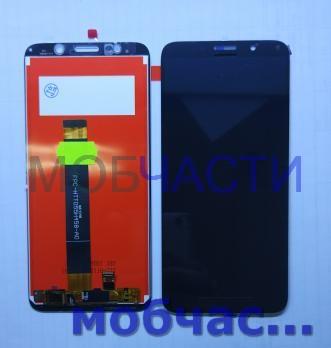 Дисплей с сенсором Huawei Y5 Prime 2018, Honor 7A, Y5 Lite, DUA-LX9, DRA-LX5, DRA-LX2, DRA-L02, DRA-L21, DRA-L22, DRA-X22, DUA-L22, черный