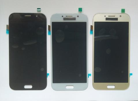 Дисплей с сенсором Samsung Galaxy A7 2017, SM A720f, серо синий, Oled