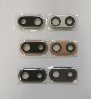 Стекло камеры iPhone 8 Plus, серебро