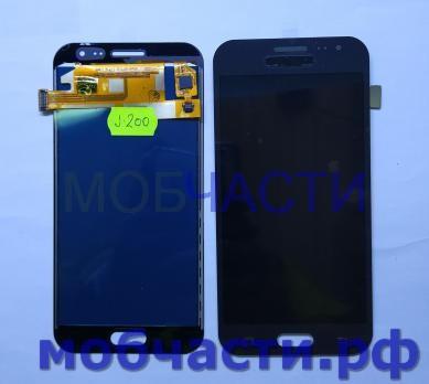 Дисплей с сенсором Samsung Galaxy J2 2016, SM J200F/H/DS, черный, TFT