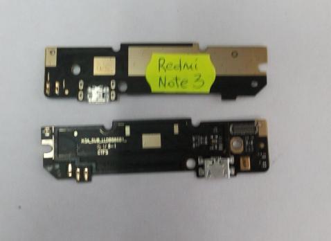 Нижняя плата с разъемом зарядки и микрофоном Xiaomi Redmi Note 3 12-пин, узкий