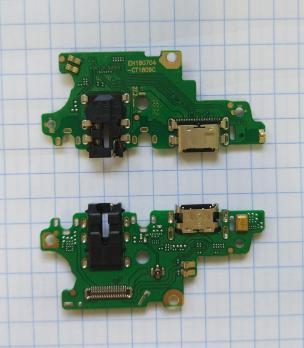 Нижняя плата с разъемом зарядки и микрофоном Huawei Nova 3, PAR-LX1