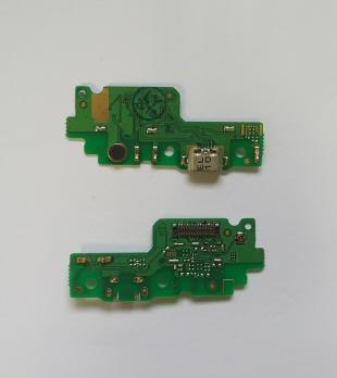 Нижняя плата с разъемом зарядки и микрофоном Huawei Y6-2, CAM-L21