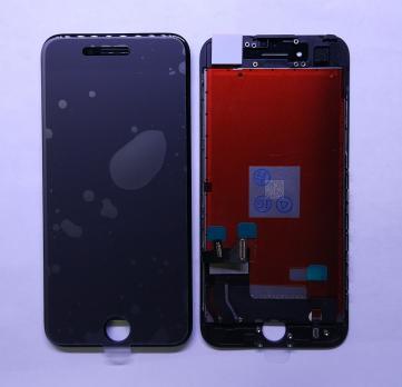 Дисплей с сенсором iPhone 7, черный, переклеенная матрица