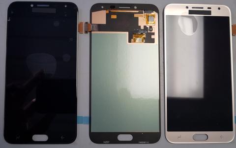 Дисплей с сенсором Samsung Galaxy J4 2018, SM J400, черный, Oled