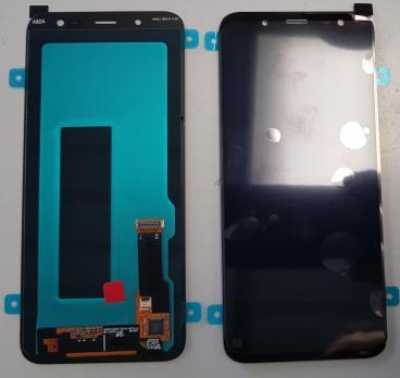 Дисплей с сенсором Samsung Galaxy J6 2018, SM J600, A6 2018, SM A600, черный, Oled