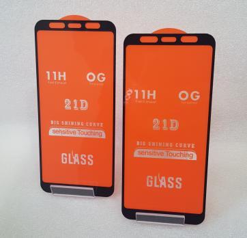 Защитное стекло 5d 9h для Samsung Galaxy A8 Plus 2018, A730, черное