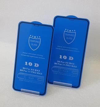 Защитное стекло 5d 9h, для Apple iphone XS Max, iPhone 11 Pro Max, 6.5, черное