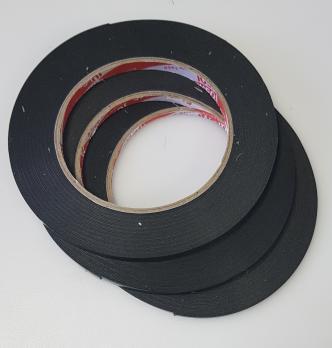 Скотч двухсторонний (3M), черный, ширина 3 мм, толщина 1 мм, длина 5 м, рулон