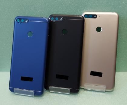 Задняя крышка (корпус) Huawei Honor 7A Pro, AUM-L29, Honor 7C, AUM-L41, Y6 2018, ATU-L31, черная