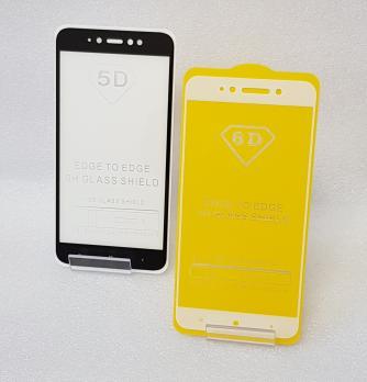 Защитное стекло 5d, для Xiaomi Redmi Note 5A, mdg6, белое