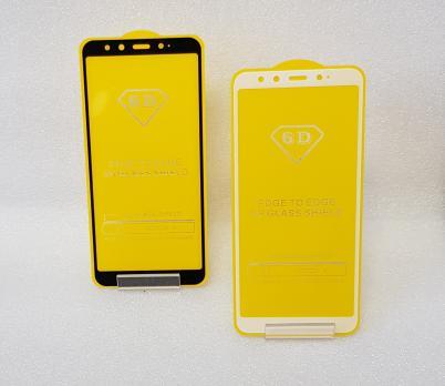 Защитное стекло 5d, для Xiaomi Mi A2, Mi 6X, белое