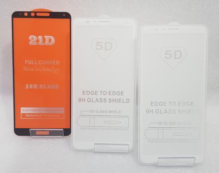 Защитное стекло 5d 9h для Huawei Honor 7X, BND-L21, белое
