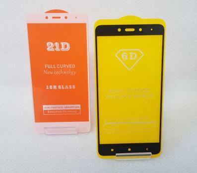 Защитное стекло 5d, для Xiaomi Redmi Note 4, черное