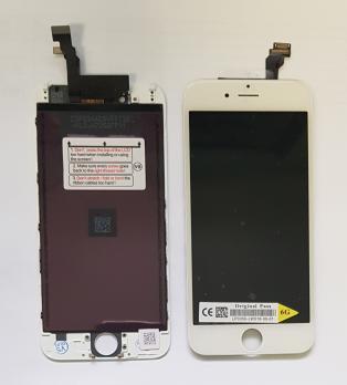 Дисплей с сенсором iPhone 6, белый, переклеенная матрица