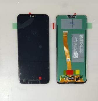 Дисплей с сенсором Huawei Honor 10, Honor 10 Premium, COL-L29, со сканером отпечатка, черный