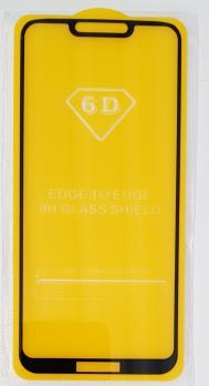 Защитное стекло 5d 9h для Huawei Honor Play, черное