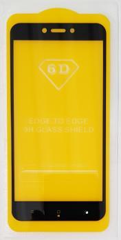 Защитное стекло 5d, для Xiaomi Redmi GO, черное