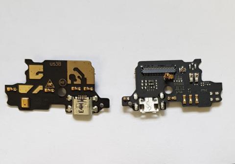 Нижняя плата с разъемом зарядки и микрофоном ZTE Blade V8 lite, ZTE Blade V8 mini