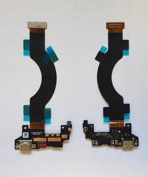 Шлейф (плата) с разъемом зарядки и микрофоном LeEco, Le Max 2, x820