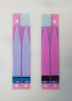 Скотч двухсторонний (стикер) для приклеивания аккумулятора iphone, комплект 2 полоски