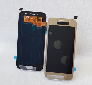 Дисплей с сенсором Samsung Galaxy A5 2017, SM A520, золото, Oled
