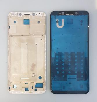 Рамка дисплея (средняя часть корпуса) Xiaomi Redmi 5 Plus, meg7, mee7, серебро